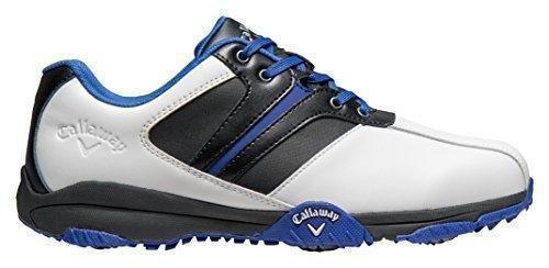 Oferta: 69.95€ Dto: -26%. Comprar Ofertas de Callaway Chev Comfort - Zapatos de golf para hombre, color blanco / negro / azul, talla 43 (M) barato. ¡Mira las ofertas!
