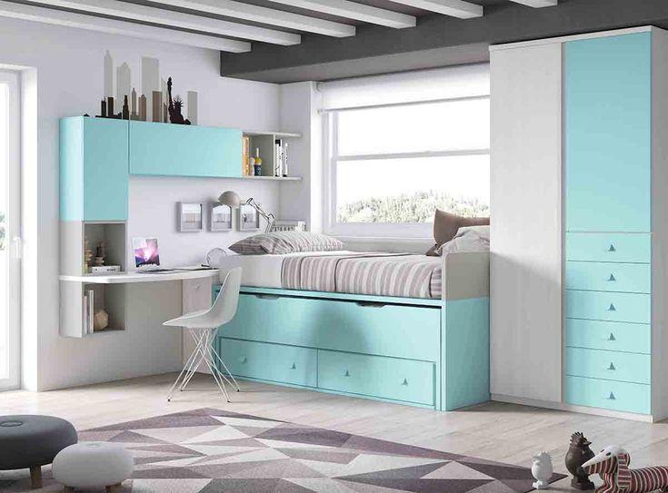 Compacto juvenil habitaciones ni s pinterest for Compactos juveniles