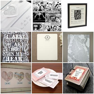 anniversary gift ideas: year 1better start making stuff since evan & i anniversary is next week