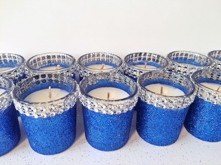 sale blue and silver centerpieces, votive candle holder, silver bling votive, candle holder, votives, candle votives, sapphire wedding, blin by EverydayDesignEvents on Etsy https://www.etsy.com/listing/255021834/sale-blue-and-silver-centerpieces-votive