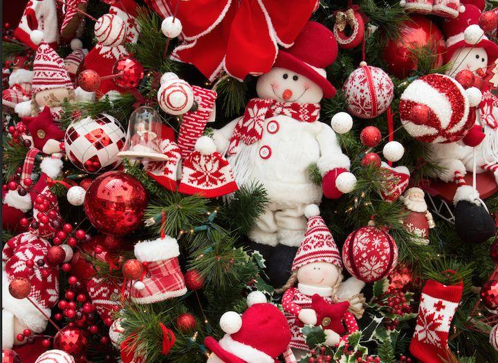 decoracao arvore de natal vermelho e dourado:De Natal Vermelho no Pinterest