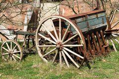 Oude Zaaimachine Stock Foto