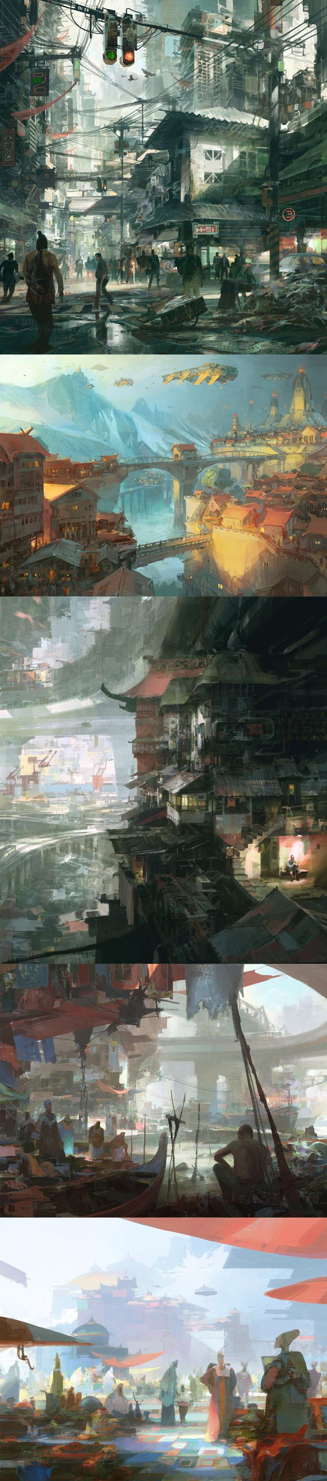Artwork by Theo Prins. Interesting, moody images.