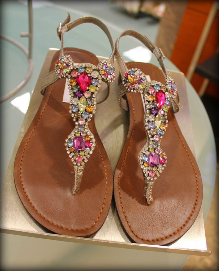 Steve Madden - Flat jeweled sandals - bling for my feet!