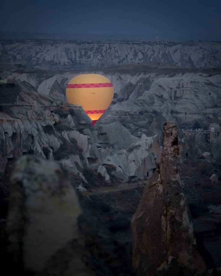 Hot air balloon over Cappadocia.