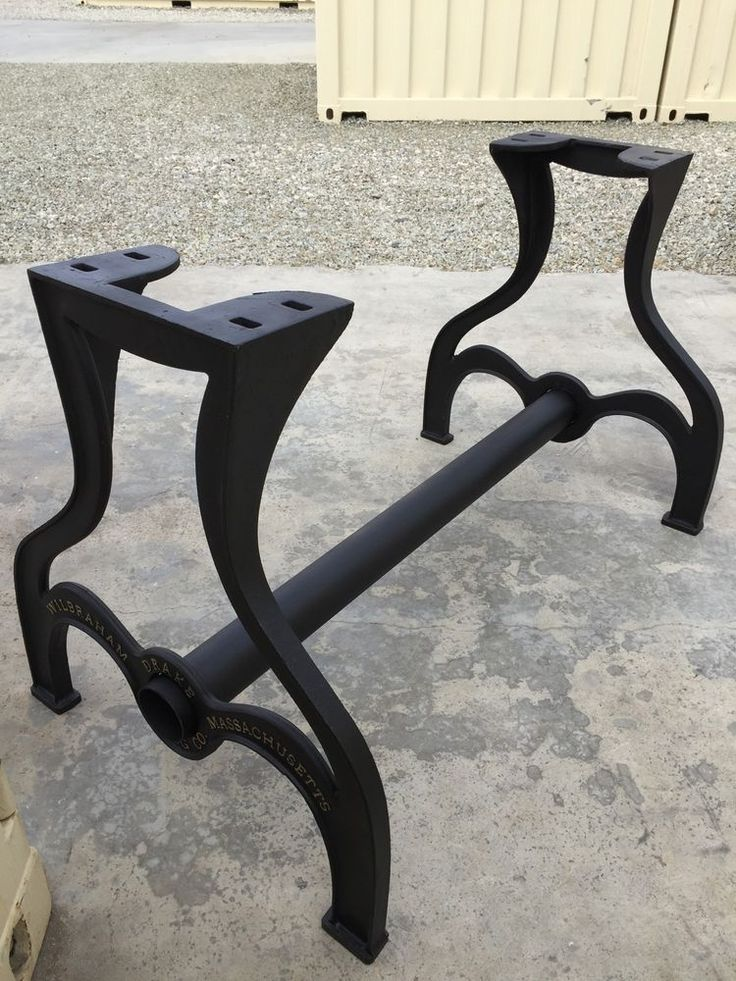 Massive Rustic Farm Table Leg Base CastIron Industrial