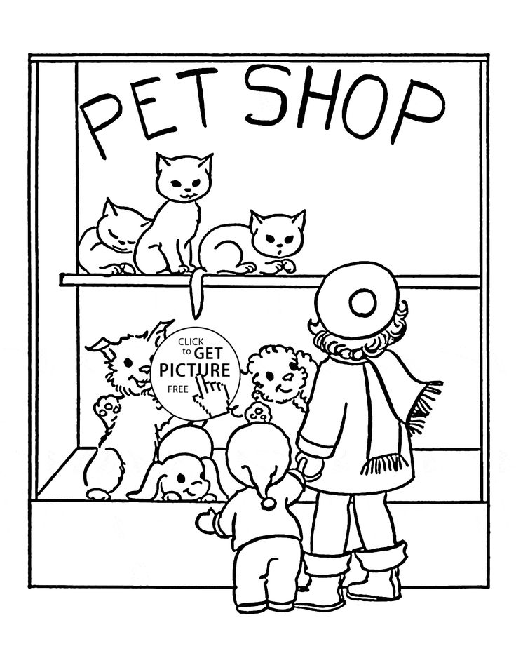 pet shop coloring page for kids animal coloring pages printables free wuppsycom