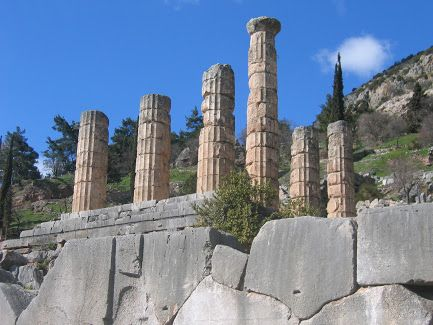 The Archaeological Site of Ancient Delphi (Δελφοί) -The grandeur of the Temple of Apollo in Delphi (Δελφοί) is still evident from the columns which have withstood the test of time. Συλλογές - Google+