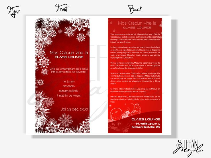 Flyers / Pliante Design - Christmass charity party - A touch of Class - CoMas Advertising