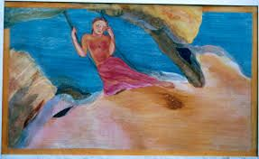"""Nilima Sheikh's paintings address women centric issues. Her popular work series """"When champa grew up"""" consisted of 12 tempera paintings narrating the story of young girl and her hardships."""