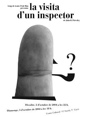"""Nacho Clemente. Cartel """"La visita d'un inspector"""""""
