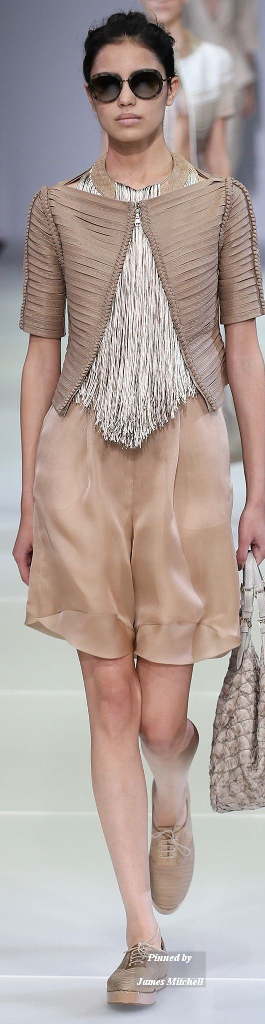 """Giorgio Armani Collection Spring 2015 Ready to Wear """"And the LORD said to Moses, """"Go to the people and consecrate them today and tomorrow. Have them wash their clothes."""" Exodus 19:10"""