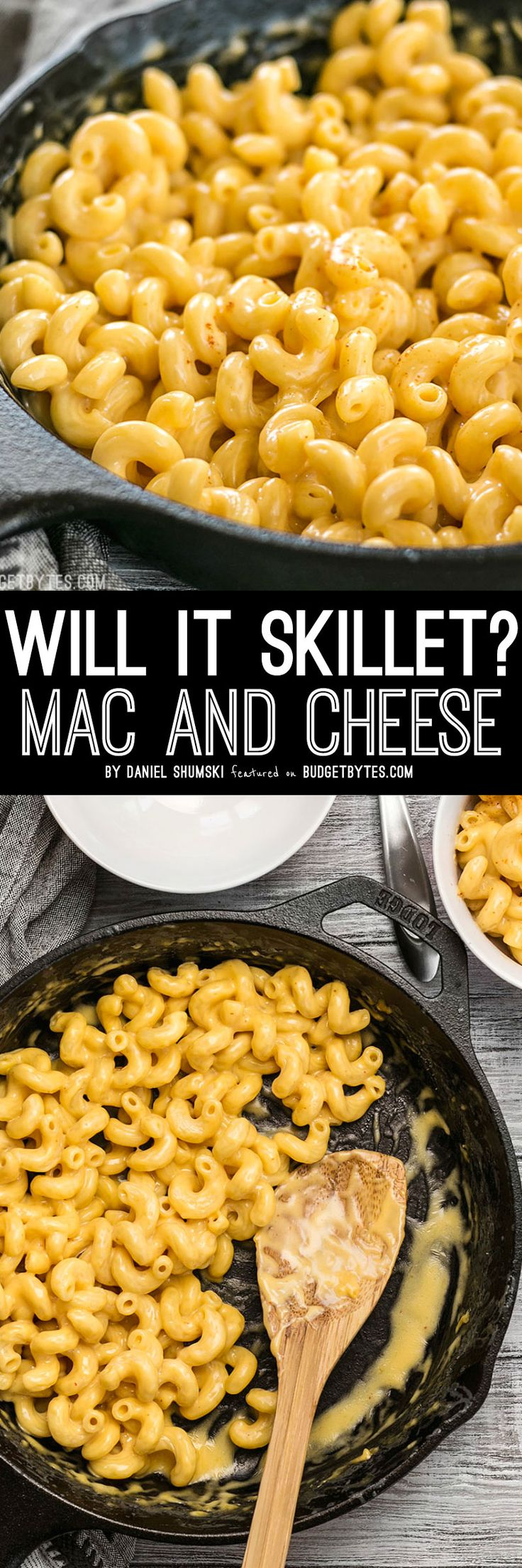 This incredible roux-less mac and cheese is rich, creamy, and only requires seven ingredients. Perfect for last minute weeknight dinners!