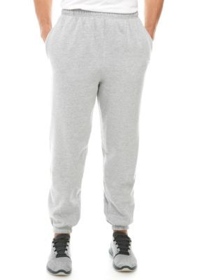 Champion Men's Heathered Fleece Pants - Heather Grey - 2Xlt