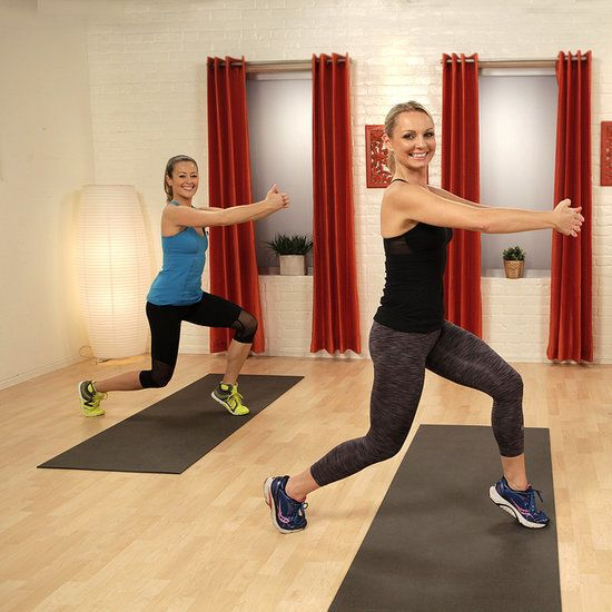 Part One: Warm-Up and Legs: Let's get right into the lower-body burn with this workout created by trainer Tracey Mallett. Best of all, you don't need any equipment to work it.