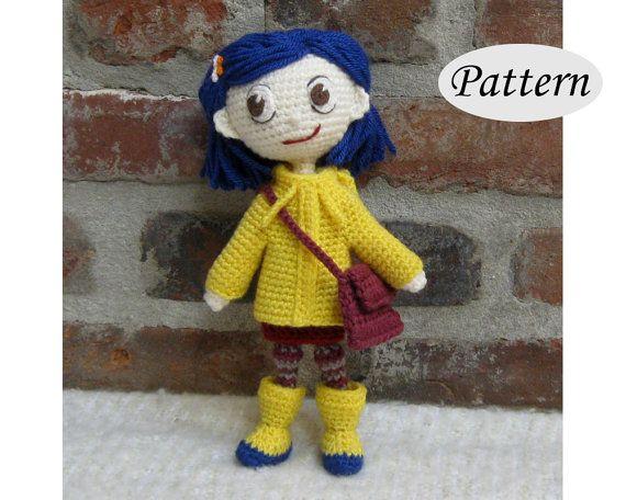 PATTERN  Coraline  Amigurumi  Crochet Doll  by CrochetCuteDolls
