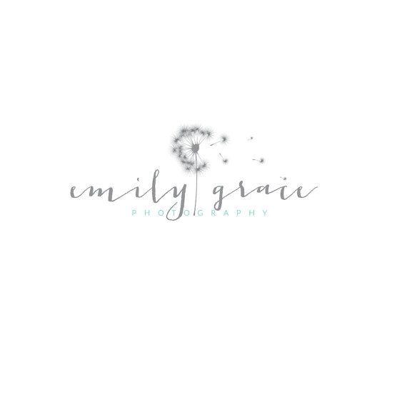 Premade Logo, Custom Logo, Watercolor Logo, Elegant Logo, Dandelion, Business…