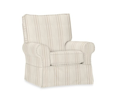 Pbk Comfort Small Round Arm Glider Rocker Slipcover French