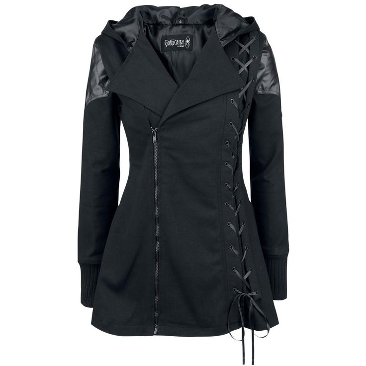 Lace-Up Vampire Womens Hooded Coat on Luulla