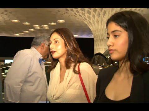 Sridevi with family at Mumbai airport leaving for IIFA awards 2015.