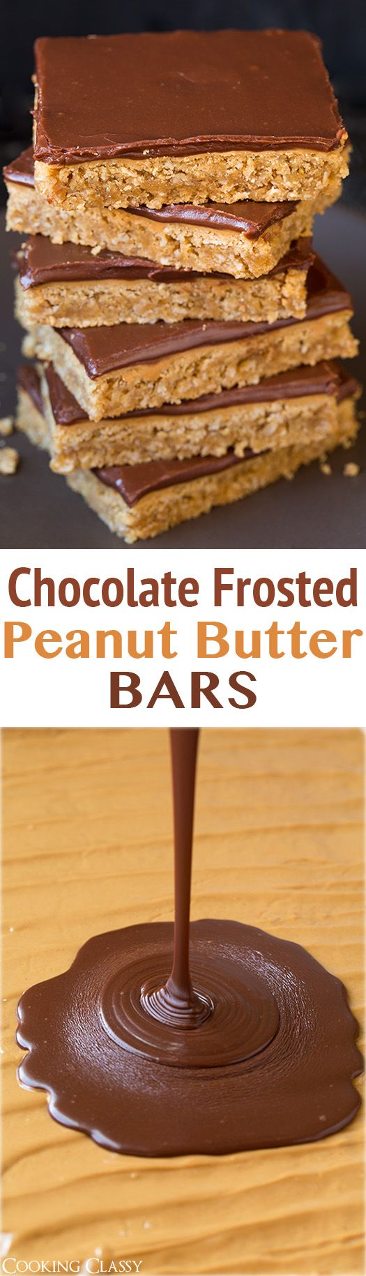 Chocolate Frosted Peanut Butter Bars - this is the best cookie bar ...