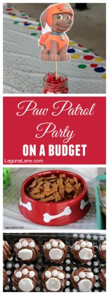 Paw Patrol party, birthday party, budget party, affordable party, DIY party