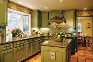 Brushed sage cabinet kitchen cabines colors pinterest for Brushed sage kitchen cabinets