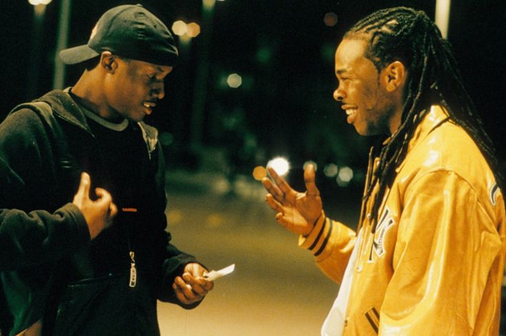 Busta Rhymes and Rob Brown in Encontrando Forrester (2000)