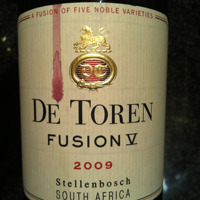 De Toren Fusion V 2009, premium Bodeaux blend. Oooh, it lived up to its reputation.
