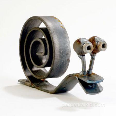 Snail yard art,to cute