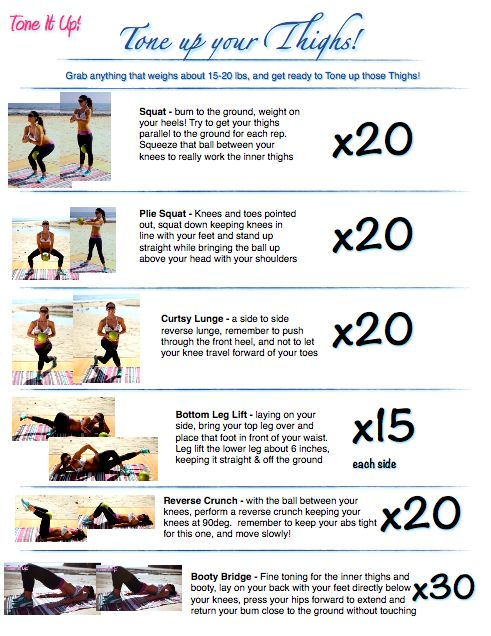 Tone It Up Thigh Workout #workout #fitness