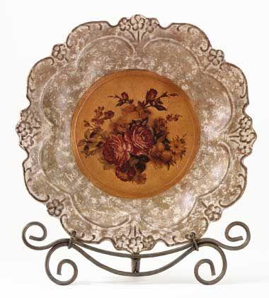 decorative plates | Decorative Plates u0026 Some Stylish Decorating Ideas  sc 1 st  Pinterest & 117 best Home Decor: Decorative Chargers/Plates images on Pinterest ...