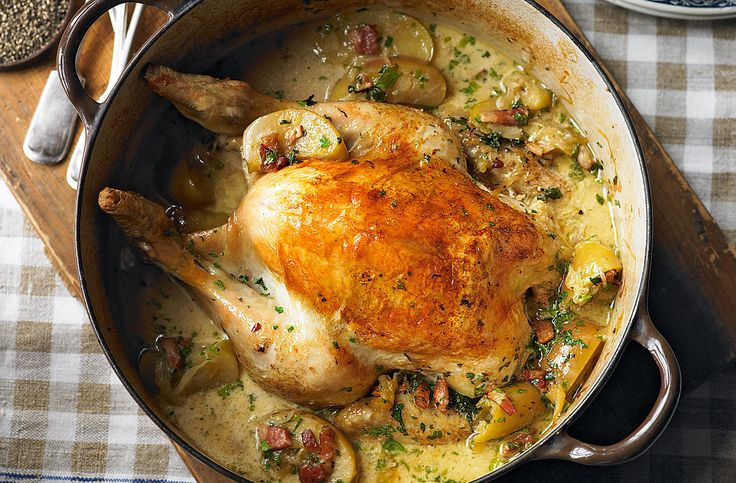 A simple Normandy pot-roast chicken with apples recipe for you to cook a great meal for family or friends. Buy the ingredients for our Normandy pot-roast chicken with apples recipe from Tesco today.