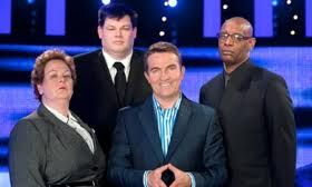 """The Chase is a British game show broadcast on ITV and hosted by Bradley Walsh in which contestants play against an opponent who plays for the bank, known as """"The Chaser"""".The Chasers are Anne Hegerty, Mark Labbett, Paul Sinha and Shaun Wallace. Labbett and Wallace have both been Chasers since series 1, while Hegerty joined in series 2 and Sinha joined in series 4."""