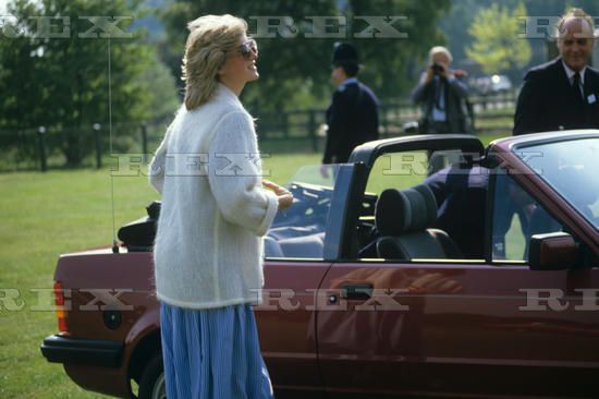 Princess Diana-24 May 1984 debuts her New ford at Polo Game with Estee Lauder Smiths  Lawn Wndsor