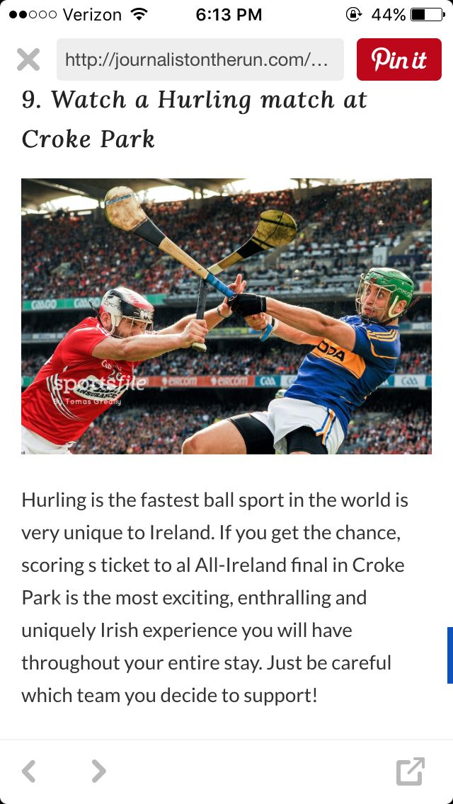 Watch hurling matches