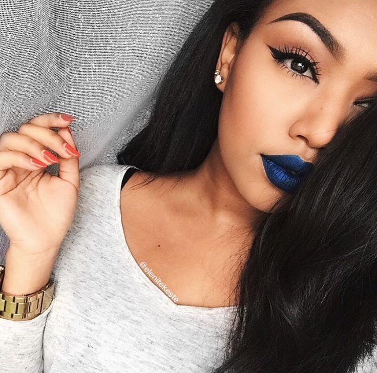 how to make blue lipstick