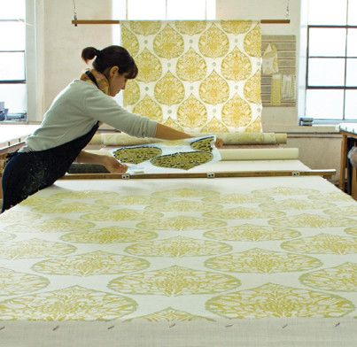 Hand-Blocked Fabric, Galbraith & Paul - eclectic - fabric - tel aviv - Galbraith & Paul