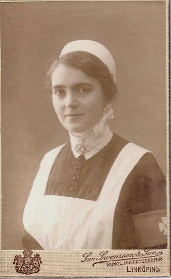 Unknown nurse, Linköping, Sweden, probably around 1910.