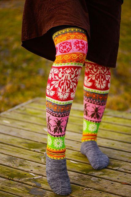 Ravelry: Loistavat niityt – Great Meadows (Muhu Island Socks) pattern by Tiina Kaarela