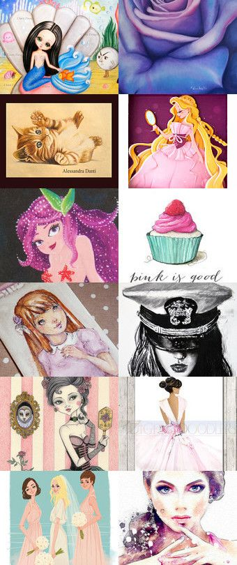 ♥ Illustrations ♥ by Miss Style on Etsy--Pinned+with+TreasuryPin.com