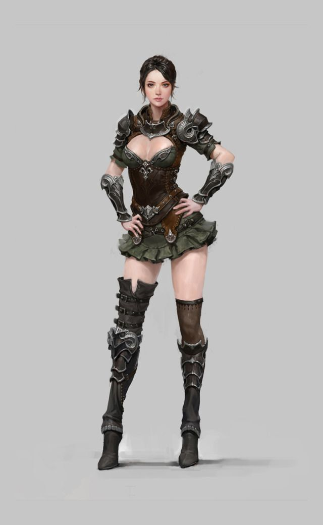 Works In Corp Picture (2d Fantasy Girl Woman Portrait Light Armor) | Things For My Wall ...