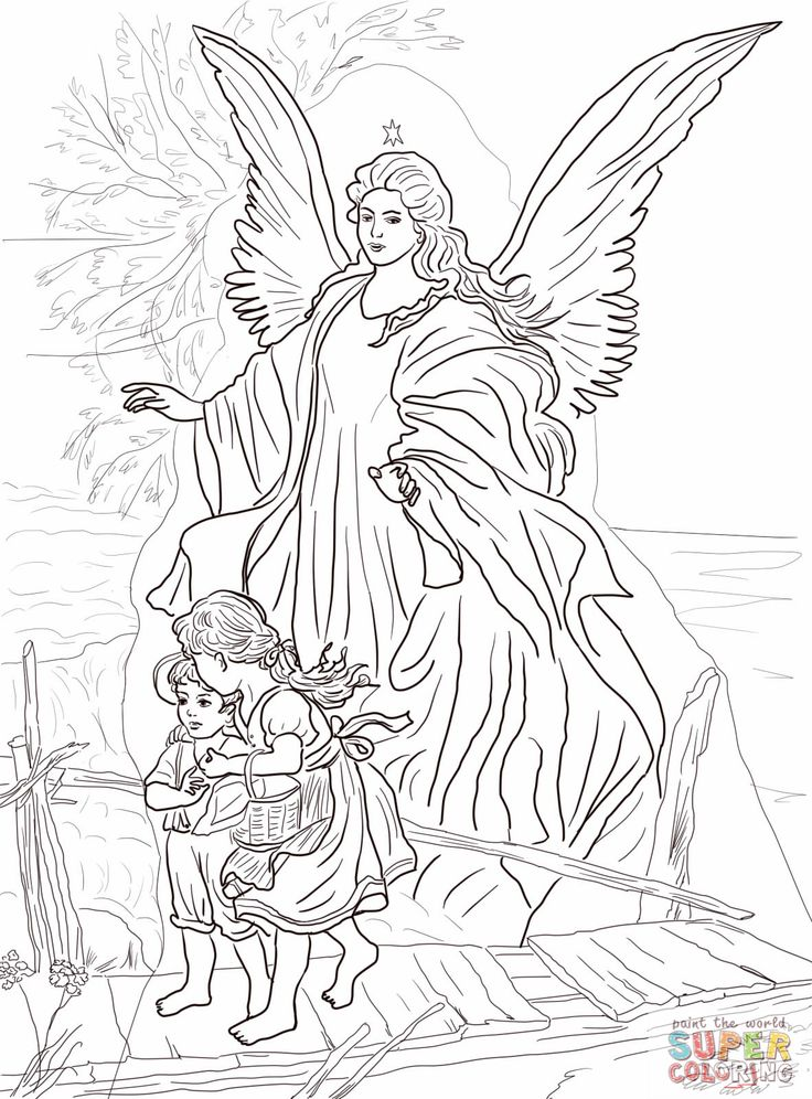 Guardian Angel Watching Over Children Grown Ups Like To