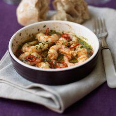 Räkor, chili, vitlök och smör – en genialisk förrätt i all sin enkelhet!