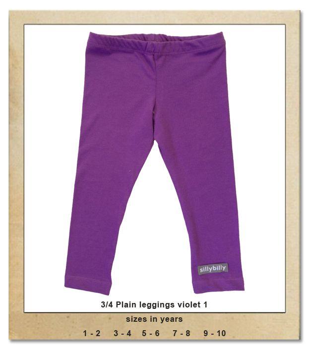 Sillybilly© clothing:  3/4 leggings violet 1