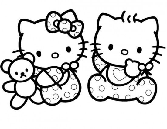 free printable baby hello kitty coloring pages for kids picture 14 550x424 picture