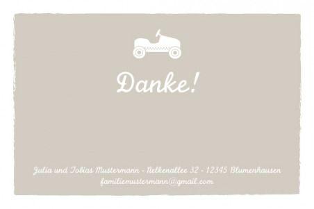Dankeskarte Mini Autospaß by Tomoë für Rosemood.de #Danksagung #Babykarte #Auto