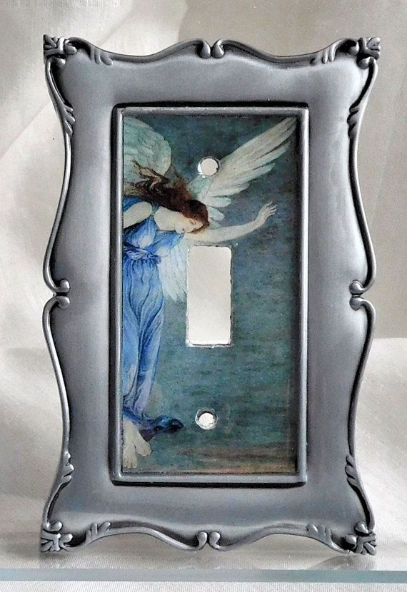 Guardian Angel Light Switch Plate Angel Light Switch by SerraCraft
