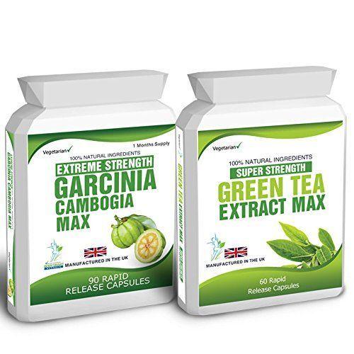90 Garcinia Cambogia & Green Tea Extract Diet Weight Loss Fat Burner Pills Slender Product