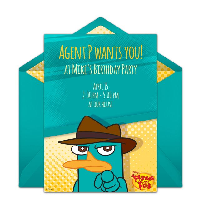 Customizable, free Phineas and Ferb online invitations. Easy to personalize and send for a Phineas and Ferb birthday party. #punchbowl